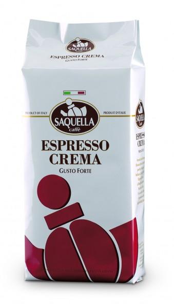 Saquella Espresso Crema, gusto Forte ganze Bohnen