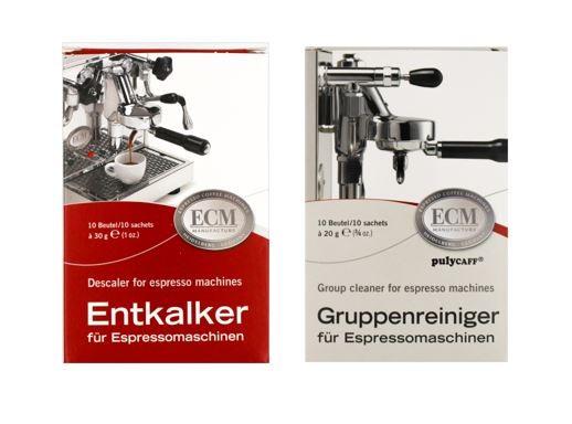 ECM Entkalker & Gruppenreiniger für Espressomaschinen je 10 Tüten