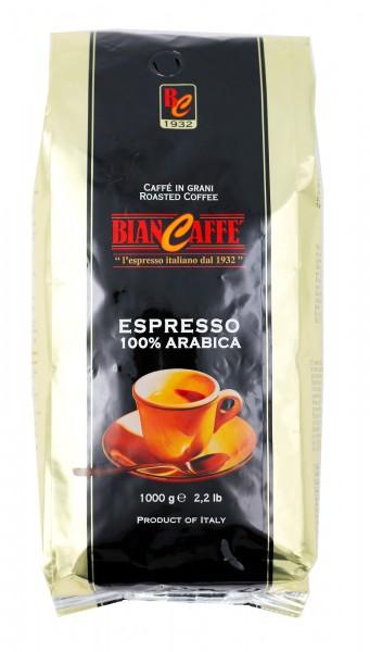 Biancaffe Espressobar 100 % Arabica ganze Bohnen