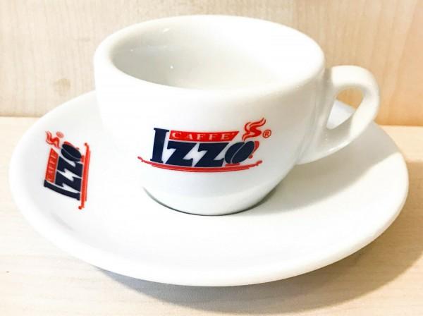 Izzo Logo Espressotasse mit Untertasse