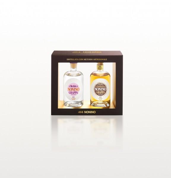 Nonino Monovitigno® Merlot & Monovitigno® Chardonnay Barriques je 350 ml 41% Vol. Alk