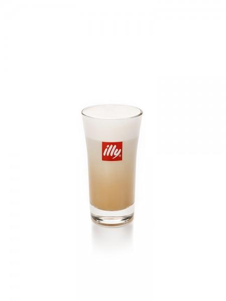 Illy Logo Latte Macchiato Glas