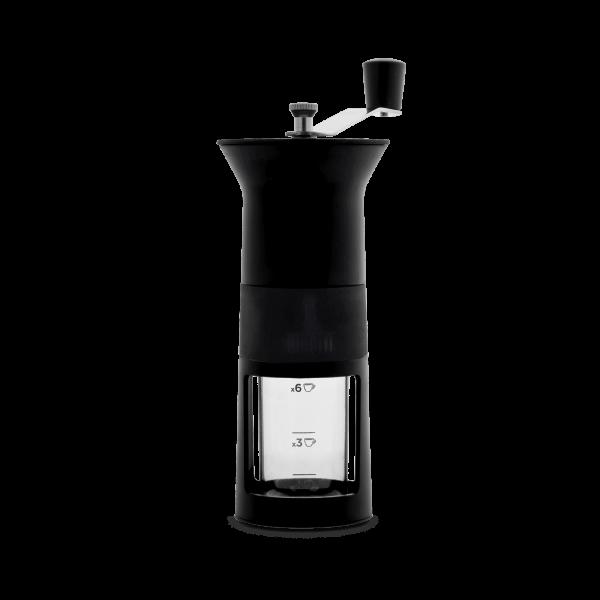 Bialetti Hand Kaffeemühle, Macina Caffè schwarz mit Keramikmahlwerk