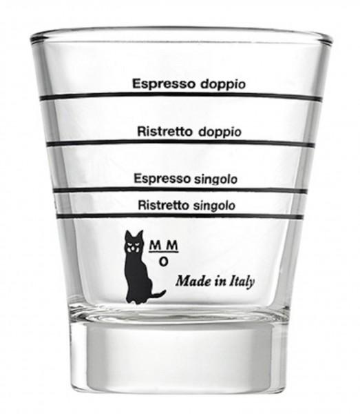Motta Espresso Glas, Shot Glas, Barista Glas rund mit Skala