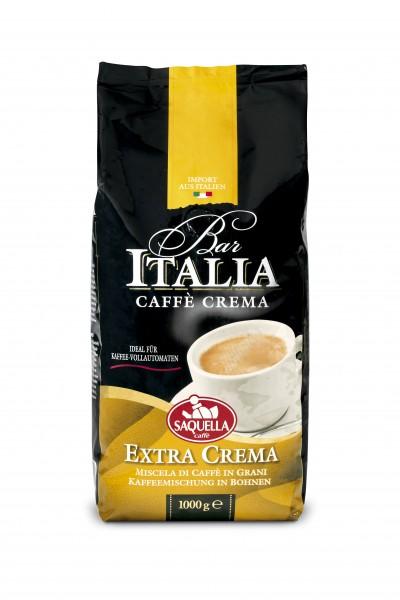 Saquella Bar Italia Caffè Crema, Extra Crema ganze Bohnen