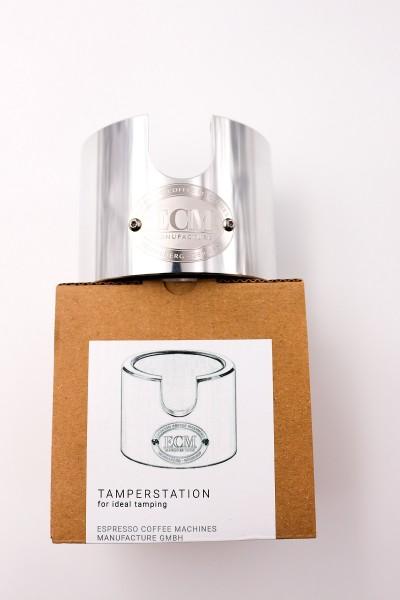 ECM Tamperstation Aluminium poliert
