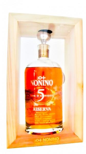 Nonino Riserva Monovitigni® ÙE 5 Jahre gereift Alk. 43 % Vol. Holzkiste