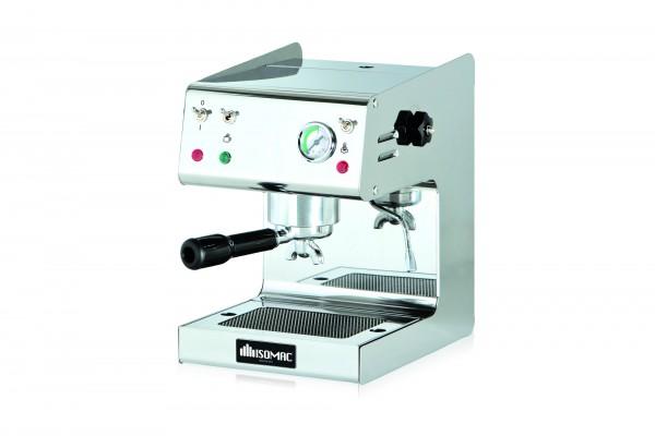 Isomac Maverick Siebträger Kaffeemaschine eingruppig Edelstahl