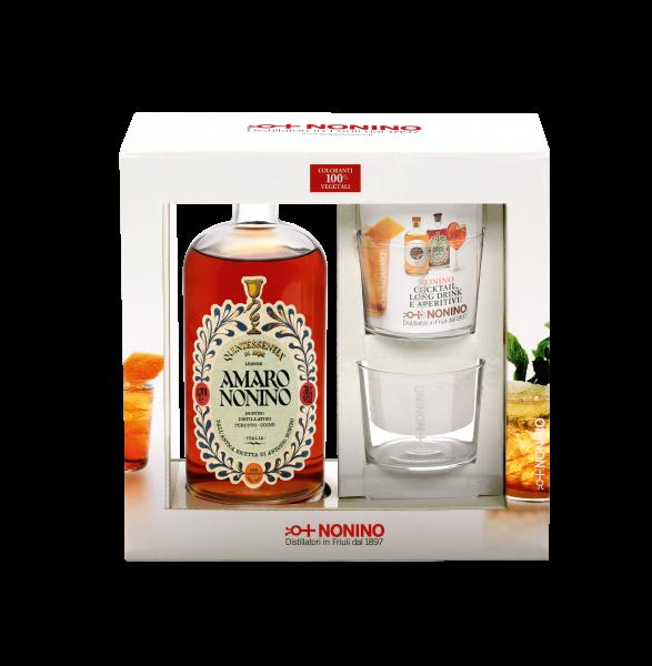 Amaro Nonino Quintessentia® GP Alk. 35% Vol. mit zwei Gläser