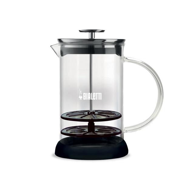 Bialetti manueller Milchaufschäumer Cappuccinatore Glas 1L - mikrowellengeeignet