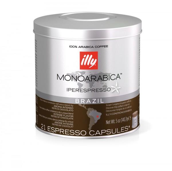 illy Iperespresso Kaffeekapseln Selection Brasilien 21 Stück