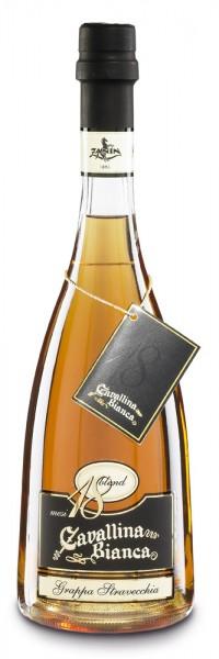 Zanin Grappa Cavallina Stravecchia Blend 18 Riserva Alk. 41,5% Vol.