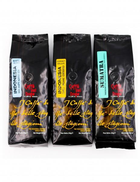 Caffè del Doge Monoorigine Bundle Java, Flores, Sumatra