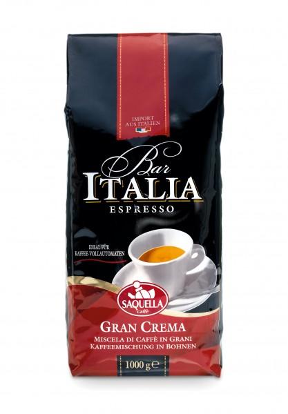 Saquella Bar Italia Espresso, Gran Crema ganze Bohnen