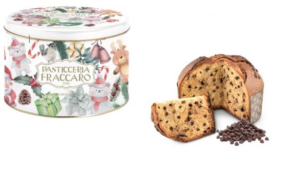 Fraccaro Panettone con Praline all' Cioccolato - Weihnachtsdose