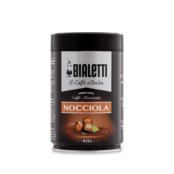 Bialetti Kaffee gemahlen Moka für Herdkannen mit Haselnuss Geschmack
