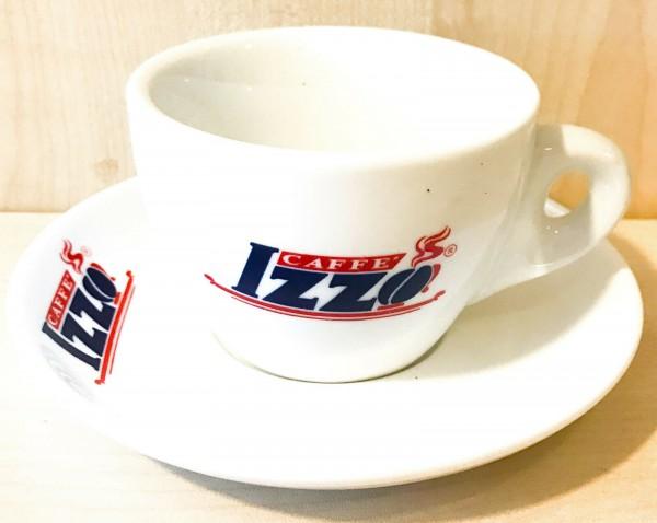 Izzo Logo Cappuccinotasse mit Untertasse
